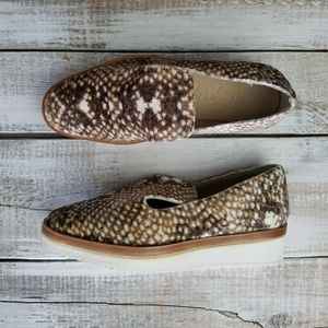 Free People Women loafers size 36 brown platform